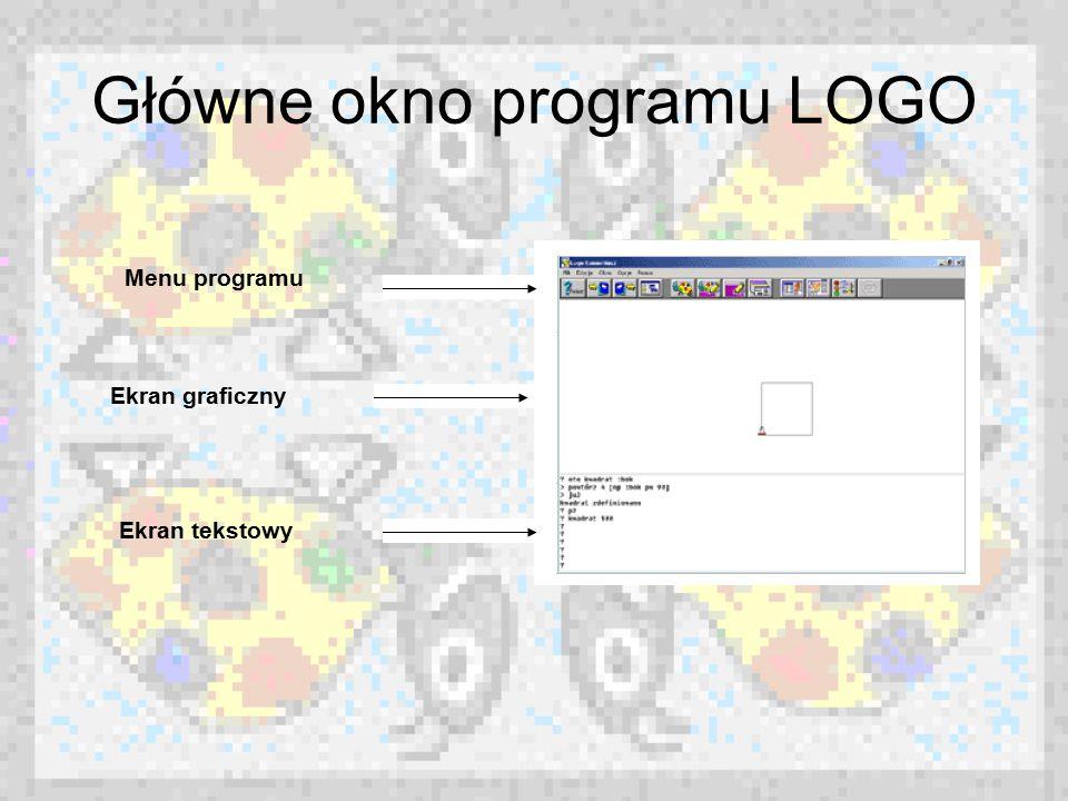 Główne okno programu LOGO