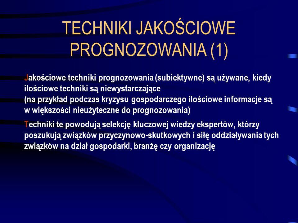 TECHNIKI JAKOŚCIOWE PROGNOZOWANIA (1)