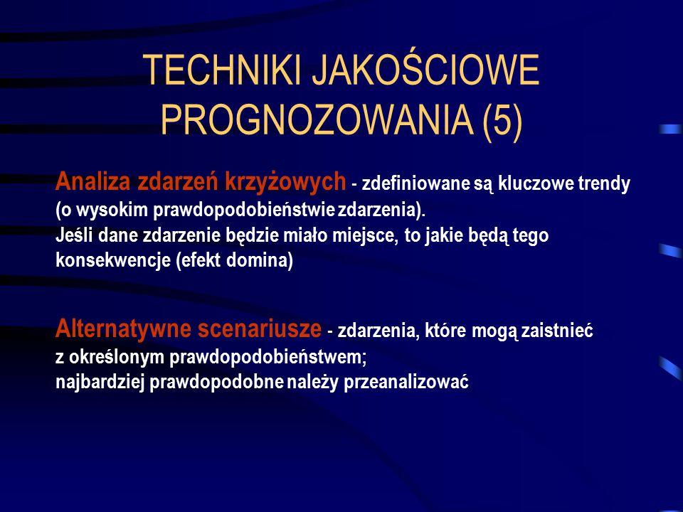 TECHNIKI JAKOŚCIOWE PROGNOZOWANIA (5)