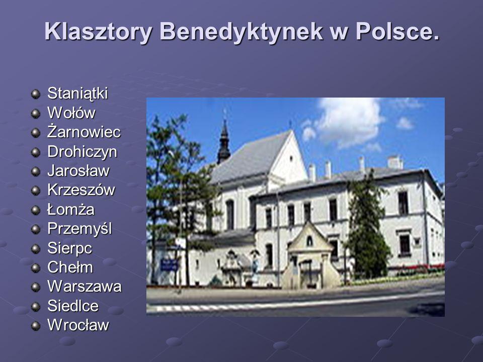Klasztory Benedyktynek w Polsce.