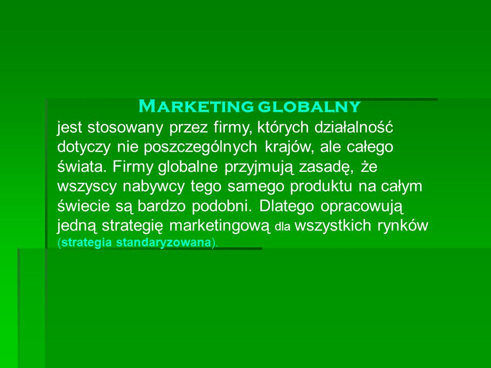 Marketing globalny