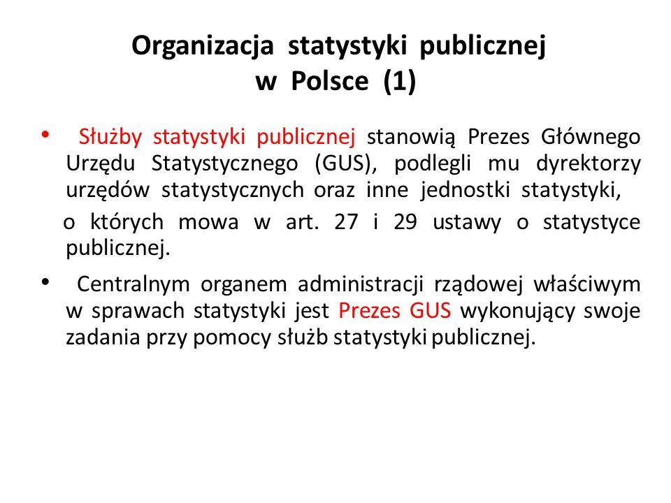 Organizacja statystyki publicznej w Polsce (1)