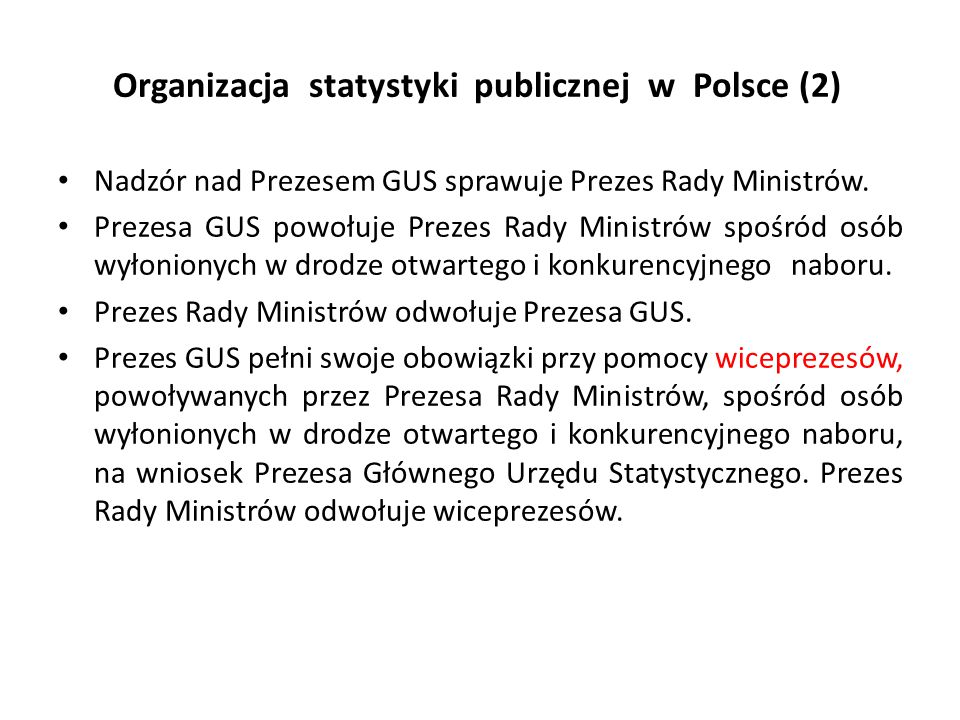 Organizacja statystyki publicznej w Polsce (2)