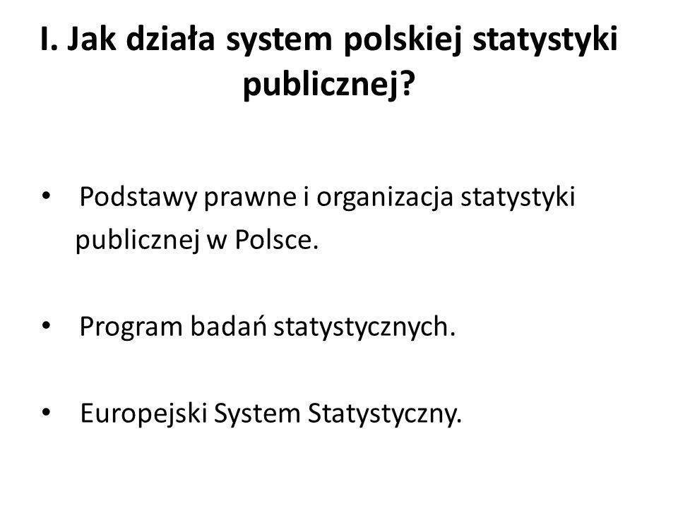 I. Jak działa system polskiej statystyki publicznej