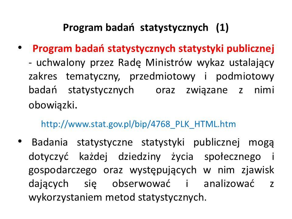 Program badań statystycznych (1)