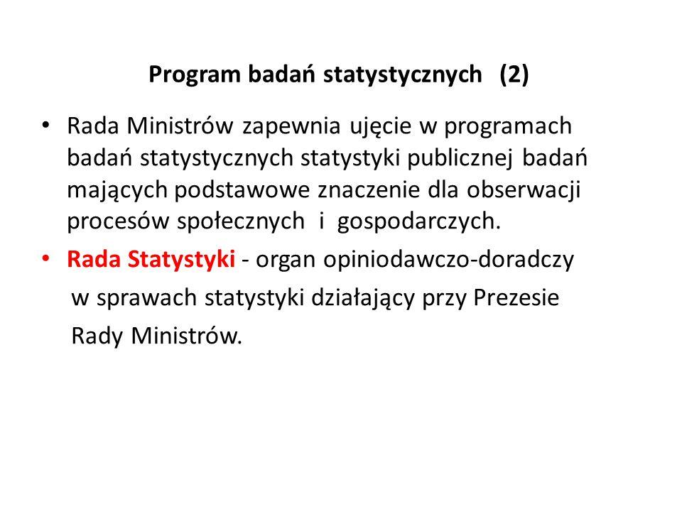 Program badań statystycznych (2)