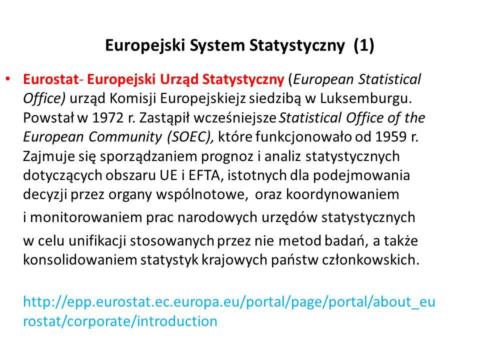 Europejski System Statystyczny (1)