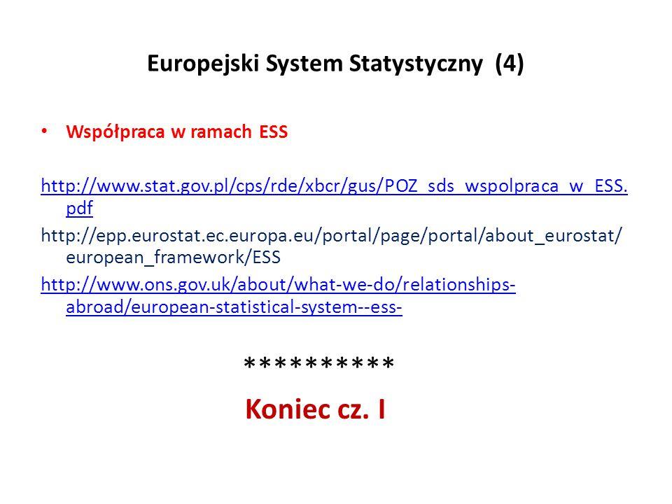 Europejski System Statystyczny (4)