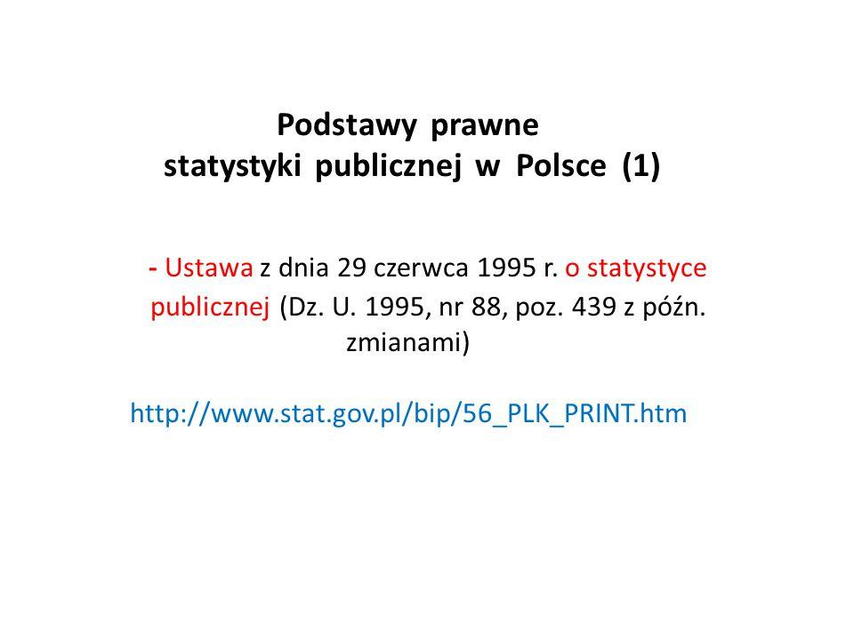Podstawy prawne statystyki publicznej w Polsce (1) - Ustawa z dnia 29 czerwca 1995 r.