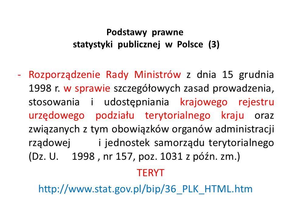 Podstawy prawne statystyki publicznej w Polsce (3)
