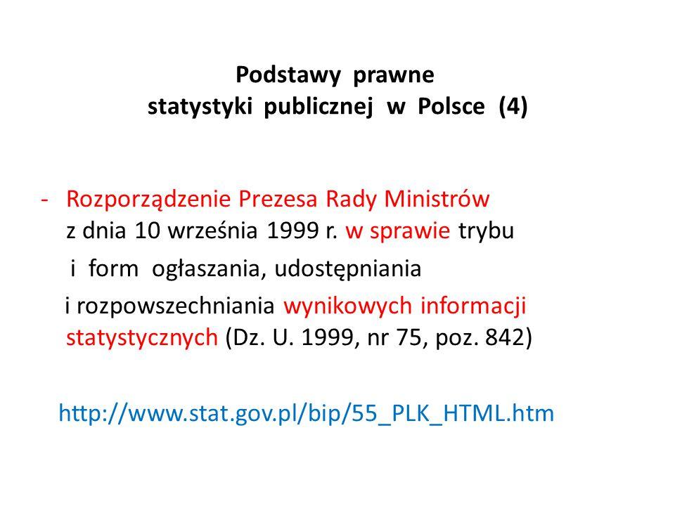 Podstawy prawne statystyki publicznej w Polsce (4)