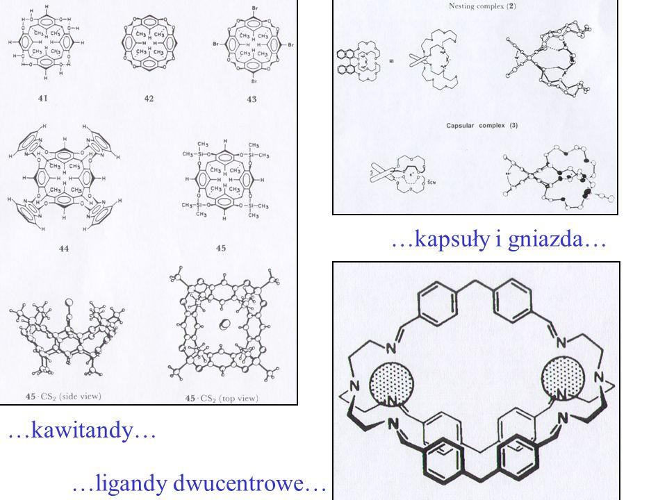 …kapsuły i gniazda… …kawitandy… …ligandy dwucentrowe…