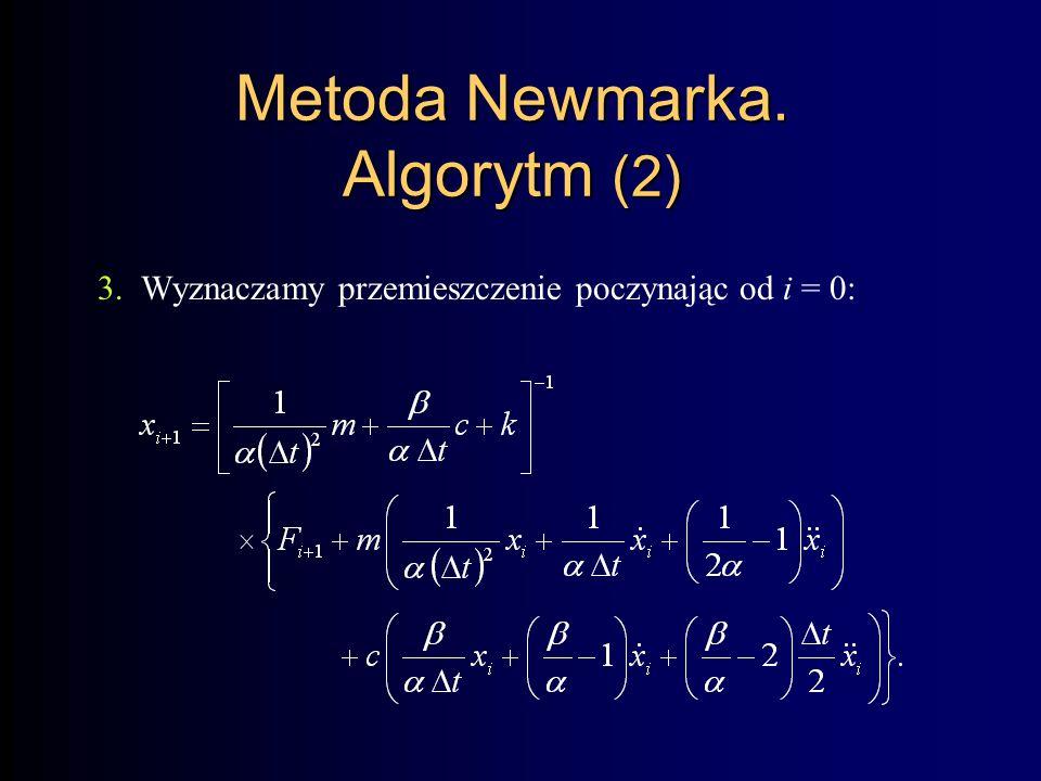 Metoda Newmarka. Algorytm (2)