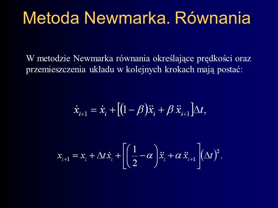 Metoda Newmarka. Równania
