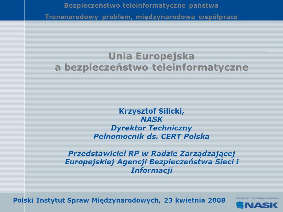 Unia Europejska a bezpieczeństwo teleinformatyczne