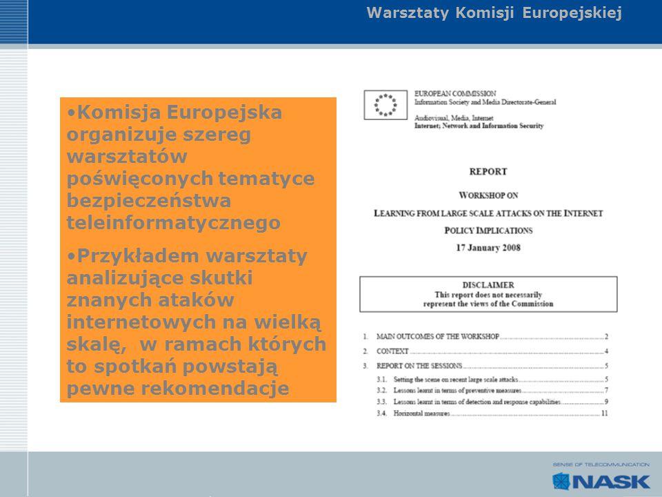 Warsztaty Komisji Europejskiej