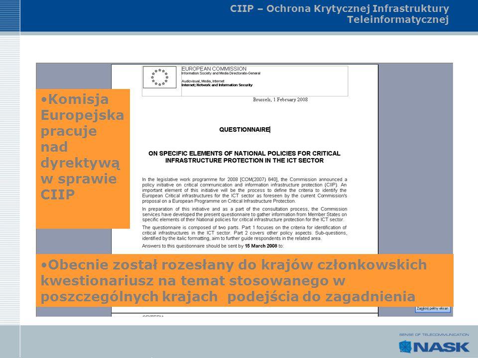 CIIP – Ochrona Krytycznej Infrastruktury Teleinformatycznej