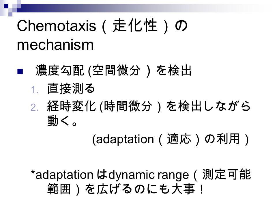 Chemotaxis(走化性)のmechanism
