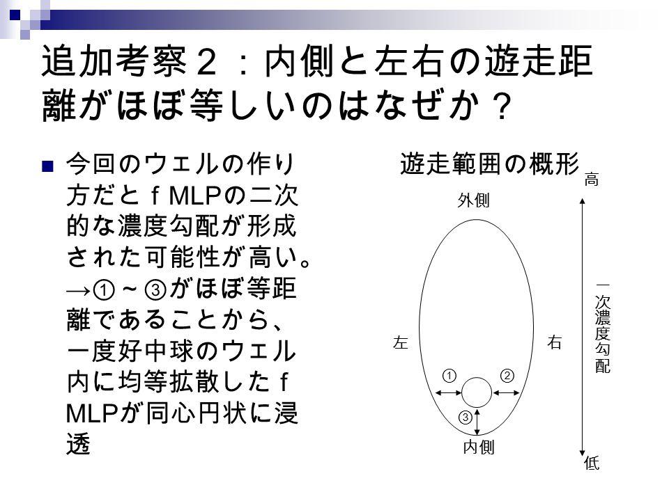 追加考察2:内側と左右の遊走距離がほぼ等しいのはなぜか?