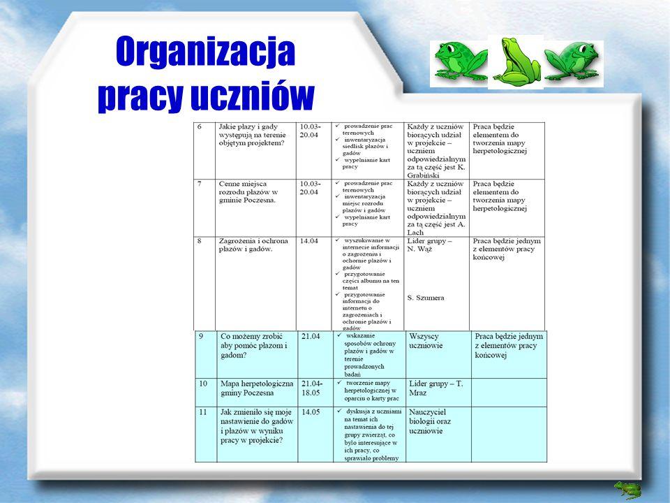 Organizacja pracy uczniów