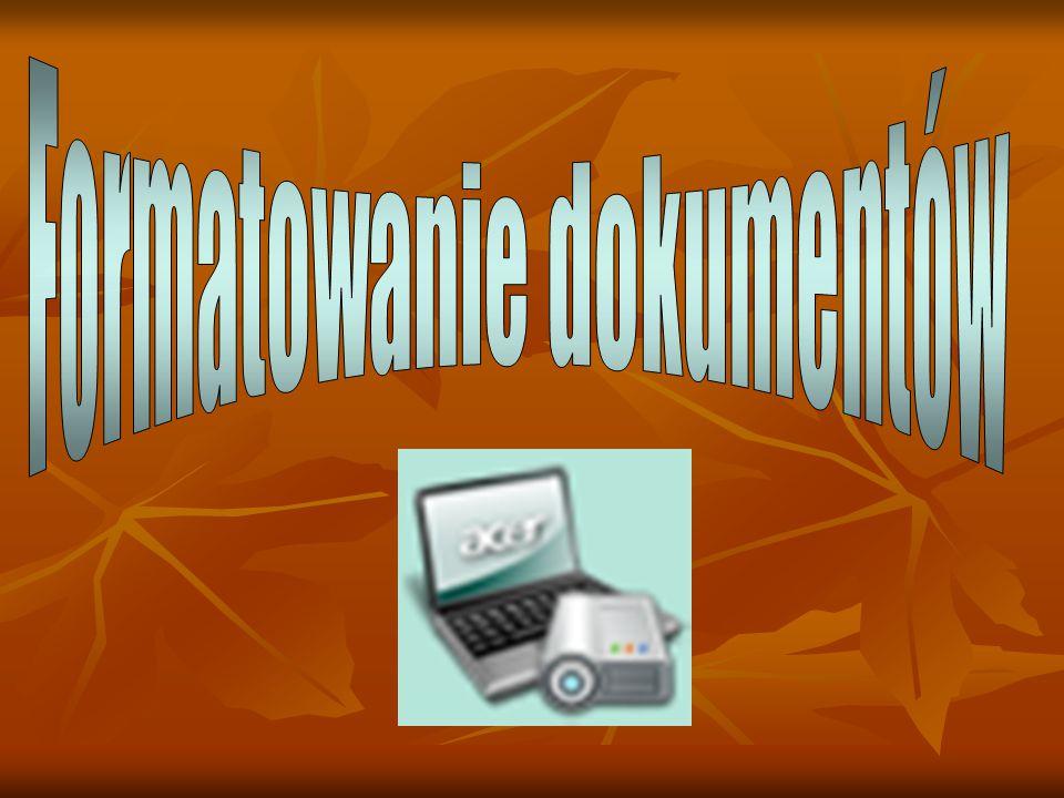 Formatowanie dokumentów