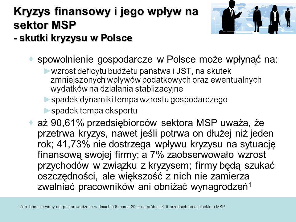 Kryzys finansowy i jego wpływ na sektor MSP - skutki kryzysu w Polsce