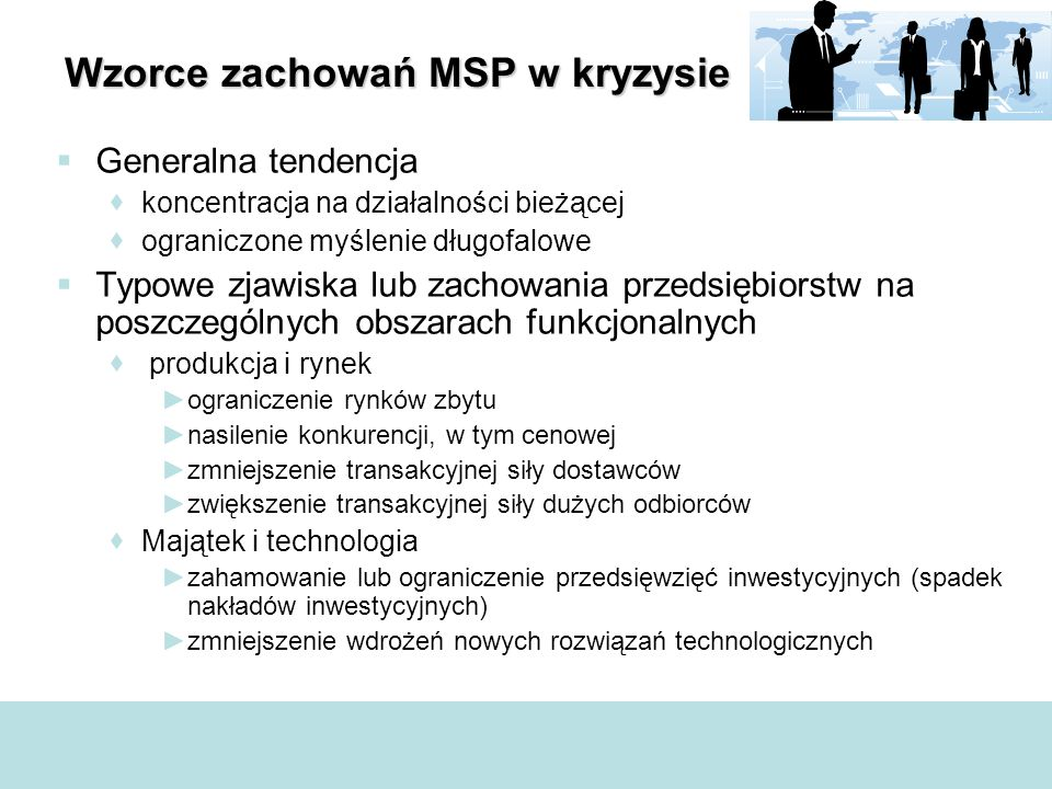 Wzorce zachowań MSP w kryzysie