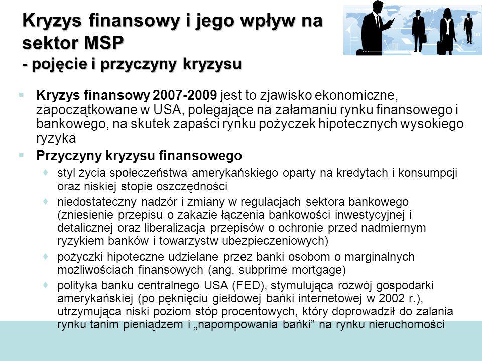 Kryzys finansowy i jego wpływ na sektor MSP - pojęcie i przyczyny kryzysu