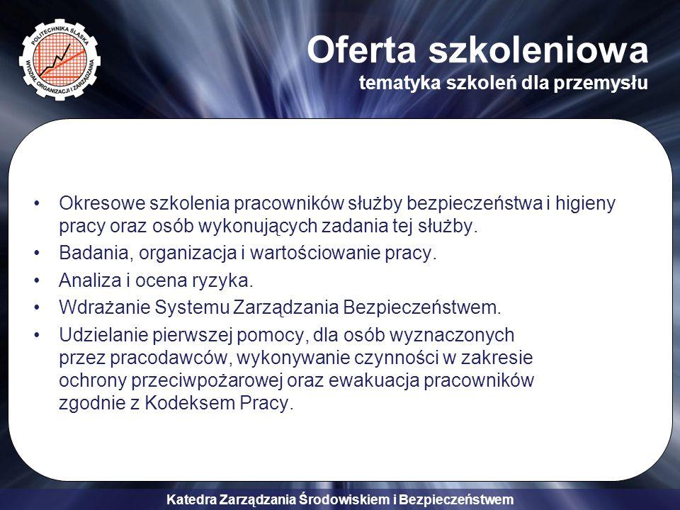 Oferta szkoleniowa tematyka szkoleń dla przemysłu