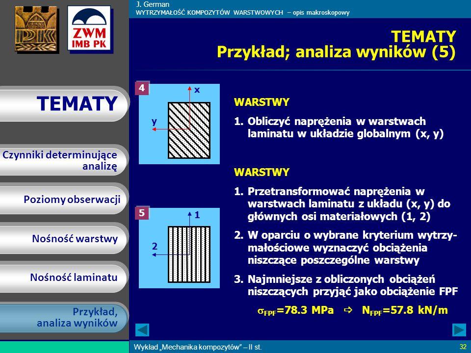 TEMATY Przykład; analiza wyników (5)