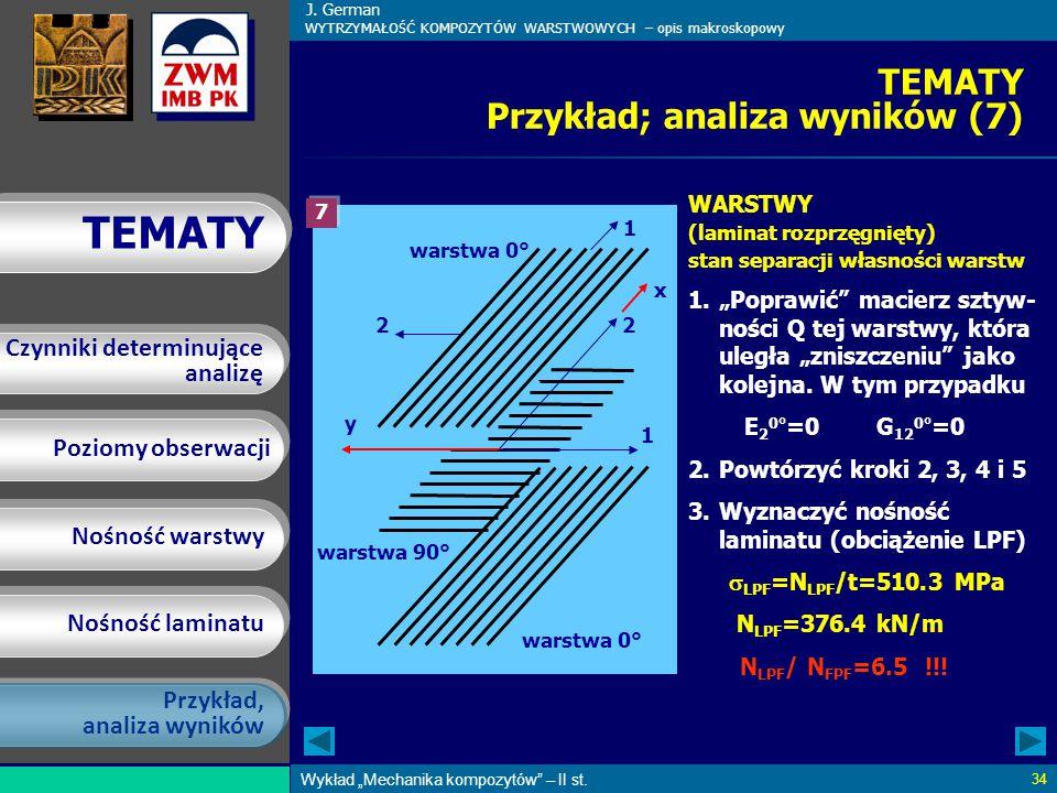 TEMATY Przykład; analiza wyników (7)