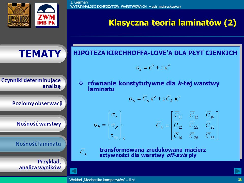 Klasyczna teoria laminatów (2)