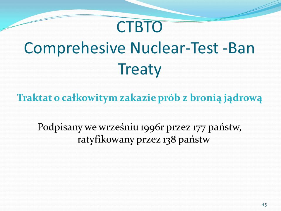 CTBTO Comprehesive Nuclear-Test -Ban Treaty
