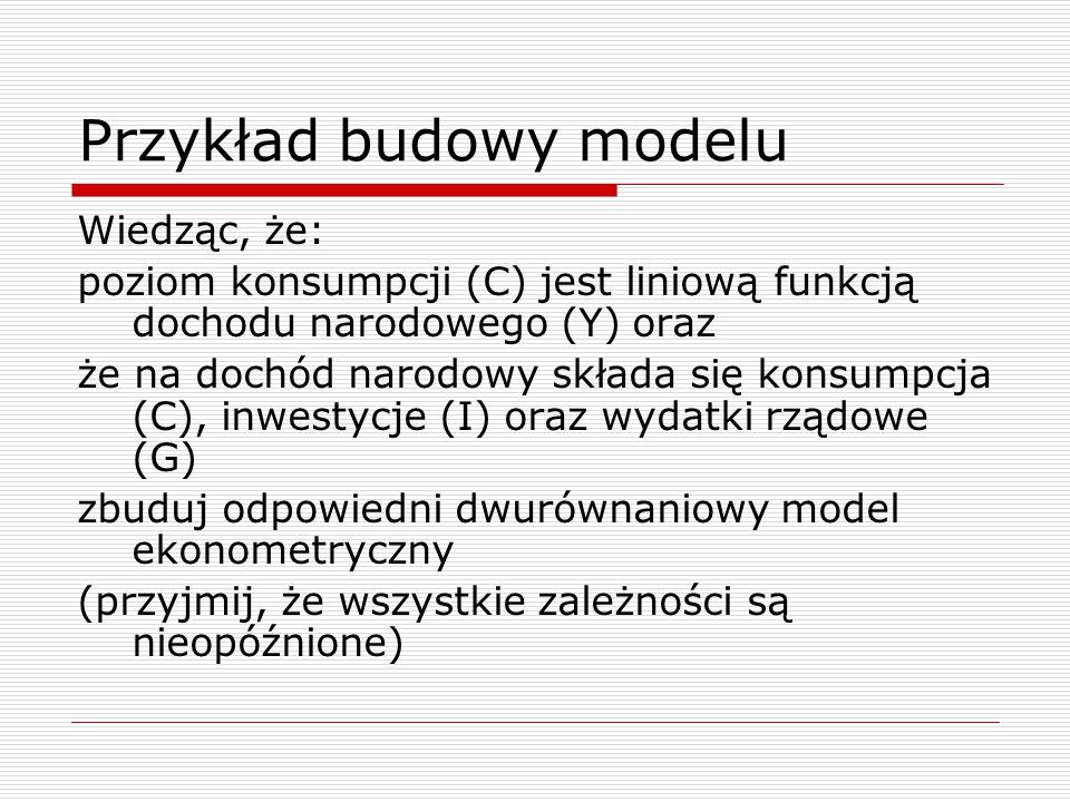 Przykład budowy modelu