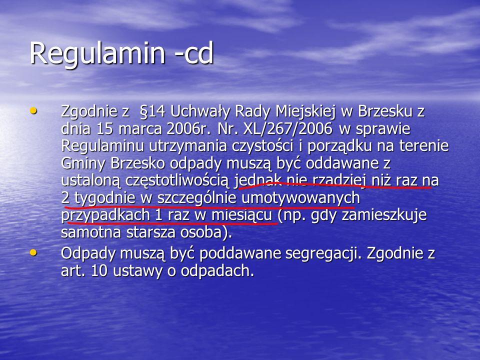 Regulamin -cd