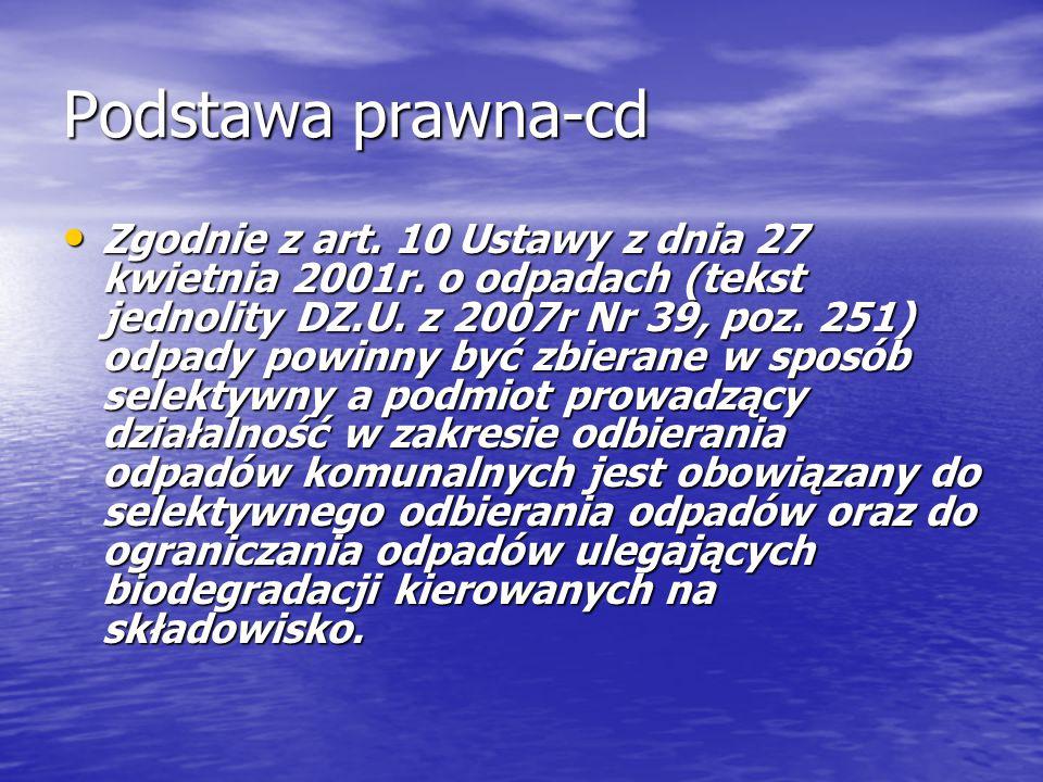 Podstawa prawna-cd