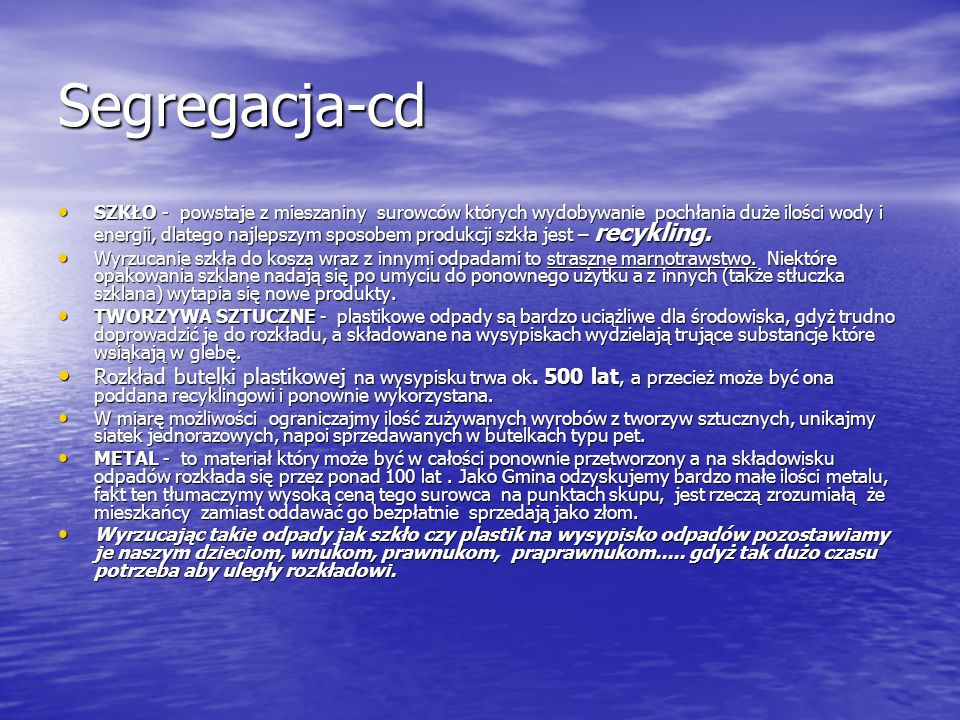 Segregacja-cd