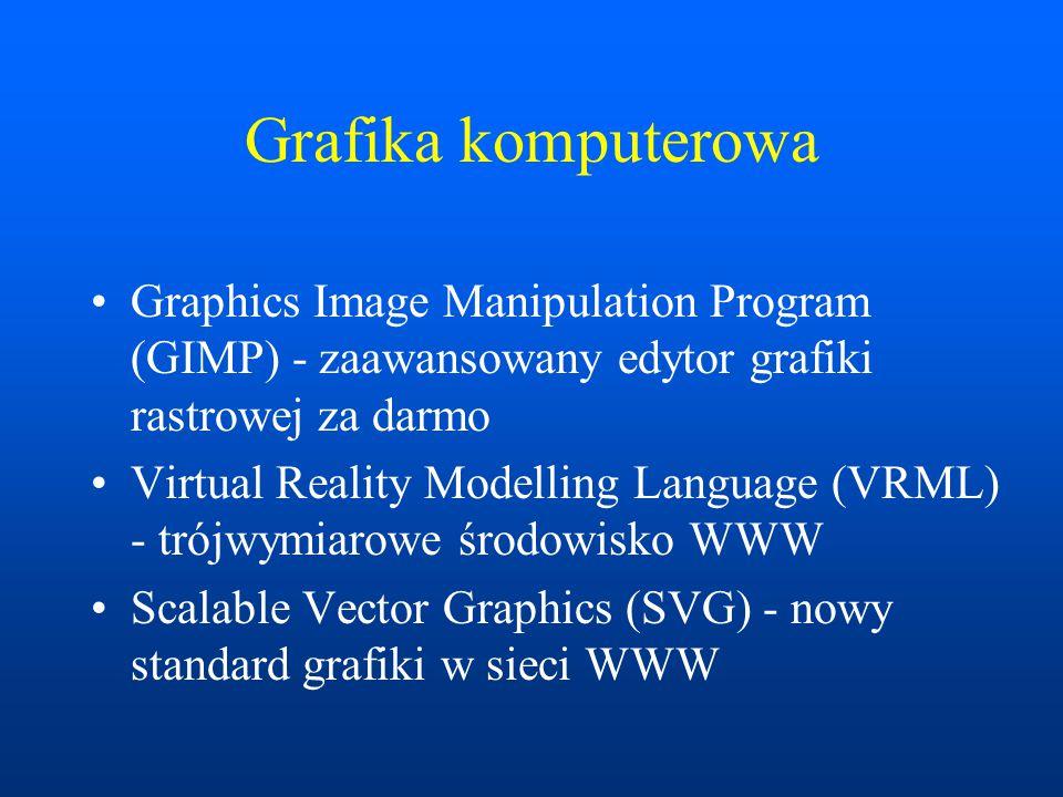 Grafika komputerowa Graphics Image Manipulation Program (GIMP) - zaawansowany edytor grafiki rastrowej za darmo.