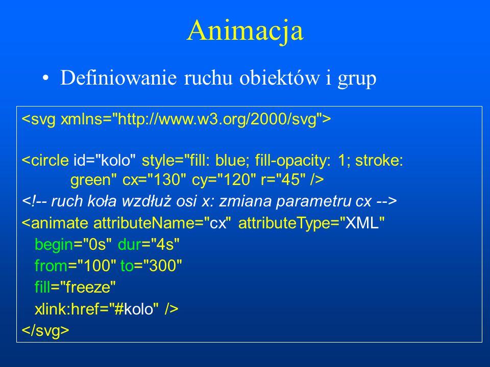 Animacja Definiowanie ruchu obiektów i grup