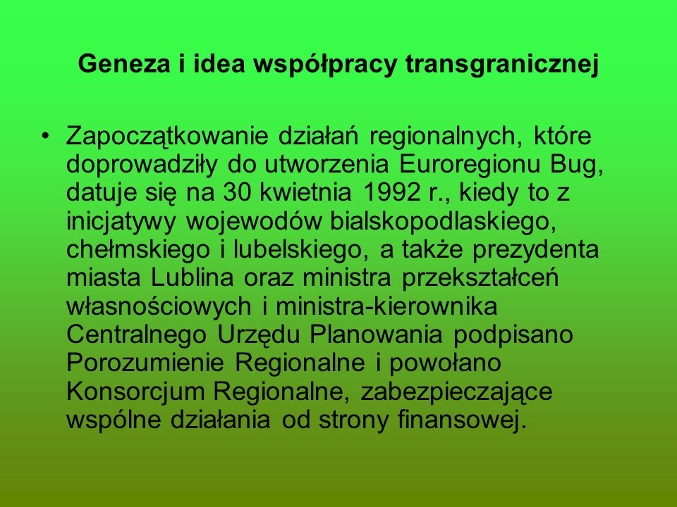Geneza i idea współpracy transgranicznej
