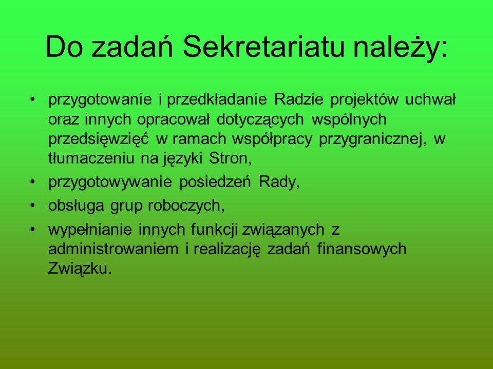 Do zadań Sekretariatu należy: