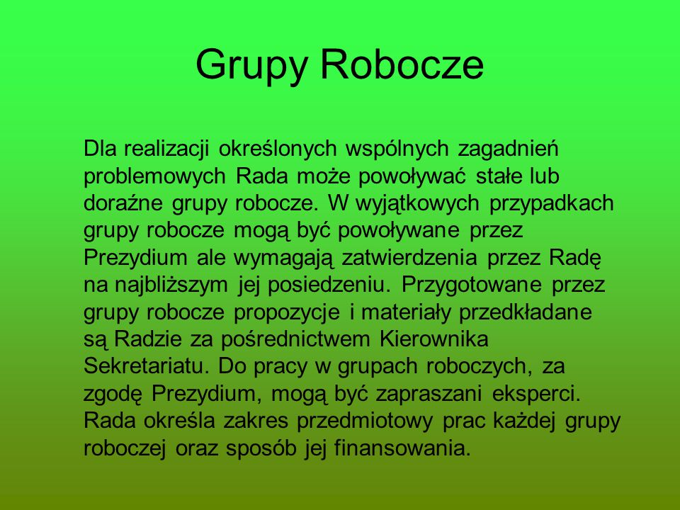 Grupy Robocze