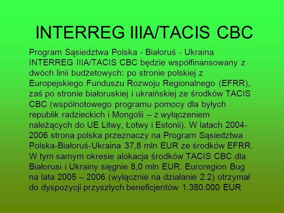 INTERREG IIIA/TACIS CBC