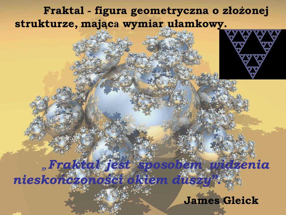 Fraktal - figura geometryczna o złożonej strukturze, mająca wymiar ułamkowy.