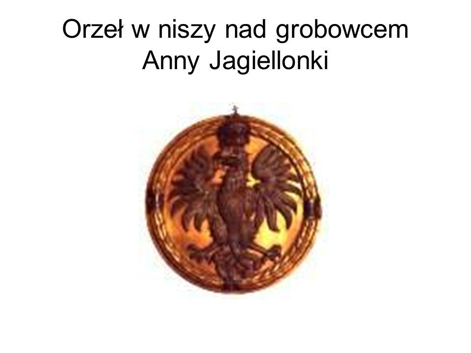 Orzeł w niszy nad grobowcem Anny Jagiellonki