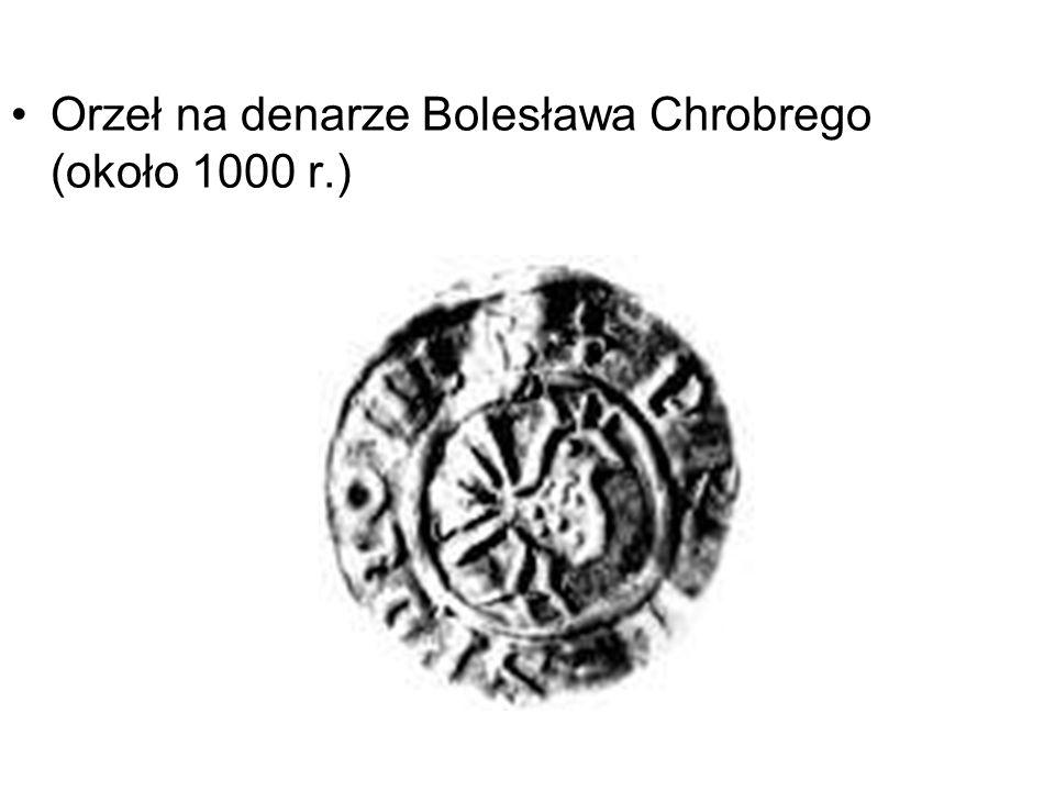Orzeł na denarze Bolesława Chrobrego (około 1000 r.)