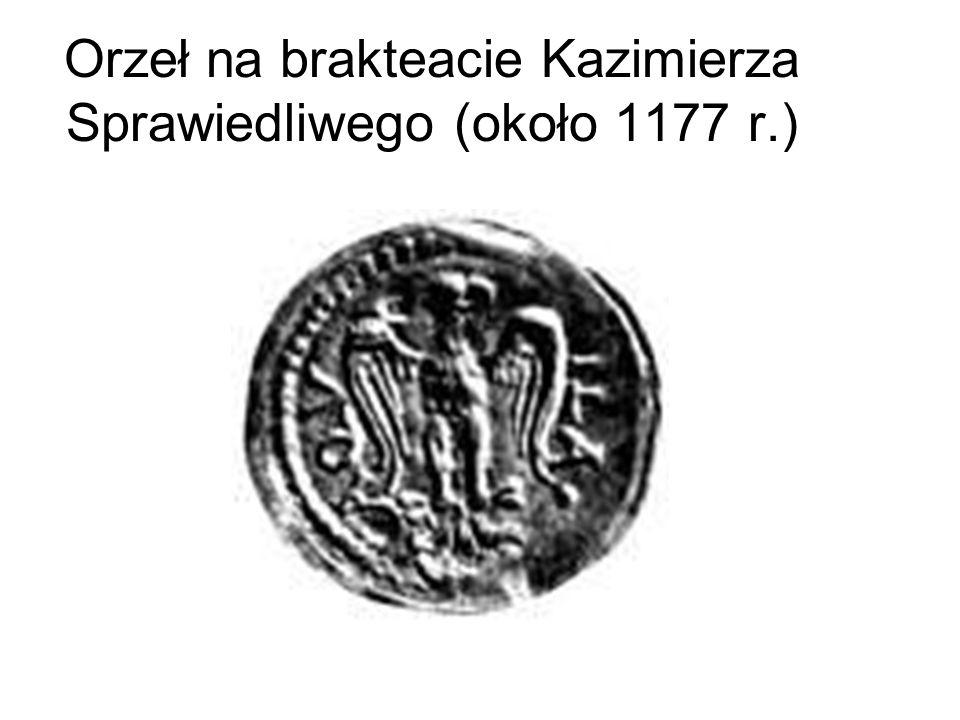 Orzeł na brakteacie Kazimierza Sprawiedliwego (około 1177 r.)