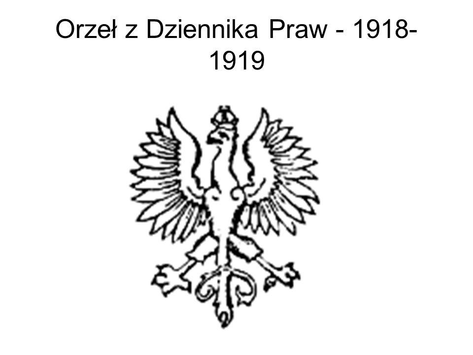 Orzeł z Dziennika Praw - 1918-1919