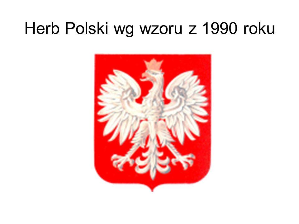 Herb Polski wg wzoru z 1990 roku