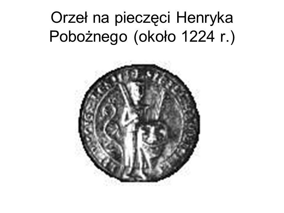 Orzeł na pieczęci Henryka Pobożnego (około 1224 r.)